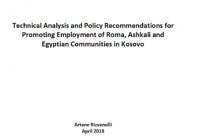 Discussion Paper on Employment of Roma, Ashkali and Egyptians